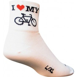 SockGuy I Heart My Bike Sock