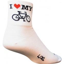 SockGuy I Heart My Bike Sock