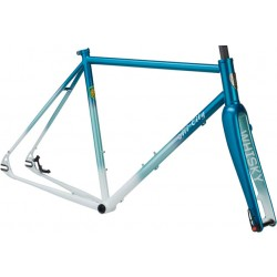 All-City Nature Boy Disc 853 Frameset Teal/White Fade