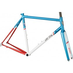 All-City Mr Pink Frameset Aqua/Red/White