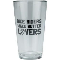 All-City Pint Glass 'Bike Riders Make Better Lovers'
