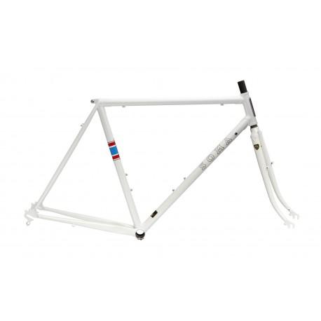 Soma 2017 Stanyan Frame & Fork Set - Metallic White - JustPedal.nl