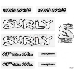 Surly Karate Monkey Frame decal / Headbadge Set