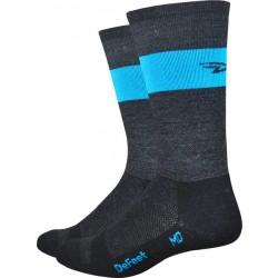 Defeet Wooleator Team Sock Gray/Hi-Vis Blue