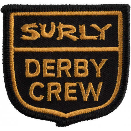 Surly Derby Crew Patch: Yellow/Black