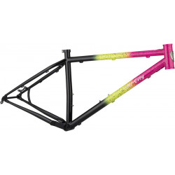 All-City Electric Queen Frameset X-Small Green/Pink/Black and Splatter