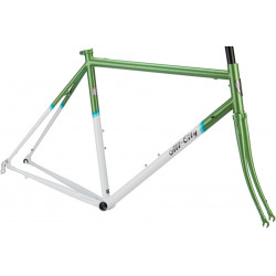 All-City Mr Pink Classic Frameset - Green and White