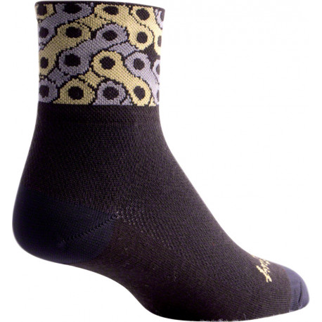SockGuy Classic Links Sock: Black SM/MD