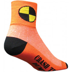 SockGuy Classic Crash Test Dummy Sock: Orange SM/MD