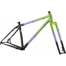 All-City Electric Queen Frameset - Blue/Lime Splatter