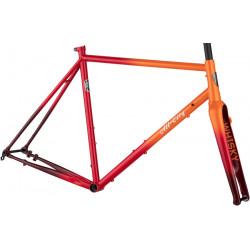 All-City Zig Zag Frameset - Orange/Red Fade