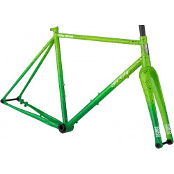 All-City Nature Boy A.C.E. Frameset Green Fade Splatter