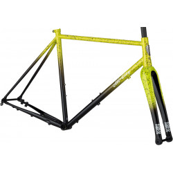 All-City Macho King A.C.E. Frameset Yellow Fade Splatter