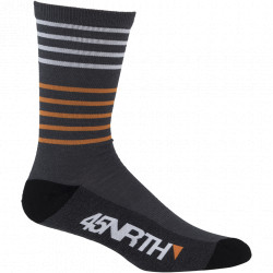 45NRTH Midweight Sock- Grey/Orange