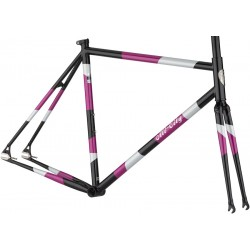 All-City Big Block Frameset Midnight/Frost/Violet