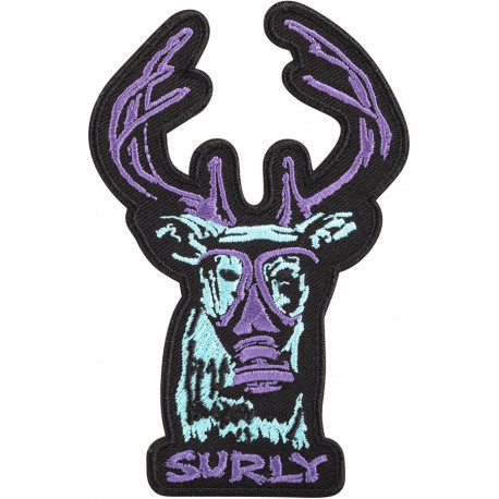 Surly Oh Deer Patch - Black Blue Purple
