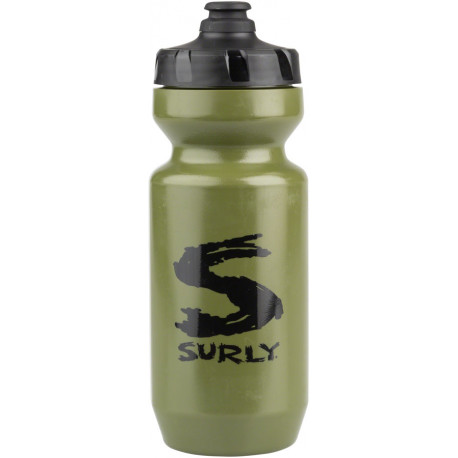 Surly Big S Purist Water Bottle - Green Black